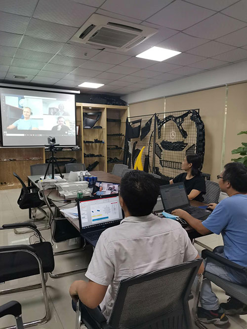 Under the current epidemic situation, we connect projects with customers through video conference